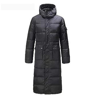 SRL Los Hombres de Largo Abrigo Abajo Parkas Outwear Chaqueta de Abrigo Capucha más tamaño Negro cálido Invierno envío rápido -66 (Tamaño : XXL): Amazon.es: ...