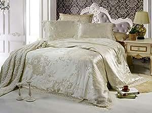 Senoures Lace Quilt Cover 4 Pcs Set King