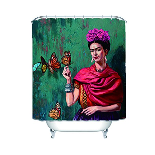 Frances Yeates Frida Kahlo Peinturebathroom Waterproof Shower Curtain 60X72 Inch