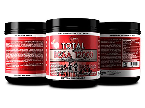 TBN Labs 8:2:2 Ratio Enriched Total BCAA 12000 is one of the most Bioactive BCAA Voted By NPC Bodybuilders. L-Leucine 8: L-Isoleucine 2: L-Valine 2 Best Use For:EACH BOTTLE OF Total BCAA 12000® PERFORMANCE FUEL CONTAINS THREE HUNDRED SIXTY (360) GRAMS OF HIGH QUALITY BRANCH CHAIN AMINO ACIDS TO FEED YOUR MUSCLES. .. (Wild Cherry) For Sale