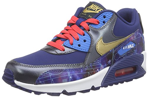 Max Leather (Nike Youths Air Max 90 Premium Multi Leather Multi Leather Trainers 39 EU)