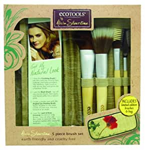 ECO TOOLS Alicia Silverstone 5 Pc Brush Set w/ Bag 1232