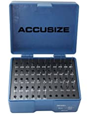 Accusize Industrial Tools 0.011''-0.060'', 50 Pc Steel Plug Pin Gage Set, Plus, Class Zz, P0(+)
