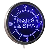ADVPRO nc0313-b Nails & Spa Beauty Salon Neon Sign LED Wall Clock