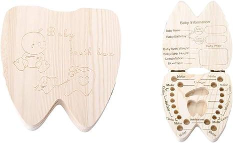 Porta dientes de leche - niño - niña - caja de madera - escrito en ...