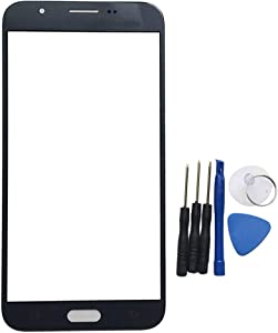 Front Screen Compatible with Galaxy J7 Prime 2017 SM-J727T1 & J7 2017 SM-J727 J727R4 J727V J727P SM-J727A & J7 Sky Pro Outer Glass Top Panel Lens Cover Replacement (No Digitizer & NO LCD) (Black)