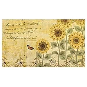 Lang Sunflowers Door Mats by Wendy Bentley (3200004) by Lang