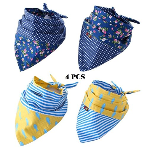 funpet-4-pack-dog-bandana-triangle-bibs-scarfs-accessories-for-pet-cats-and-puppies