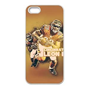Cincinnati Bengals iPhone 5 5s Cell Phone Case White 218y3-144979