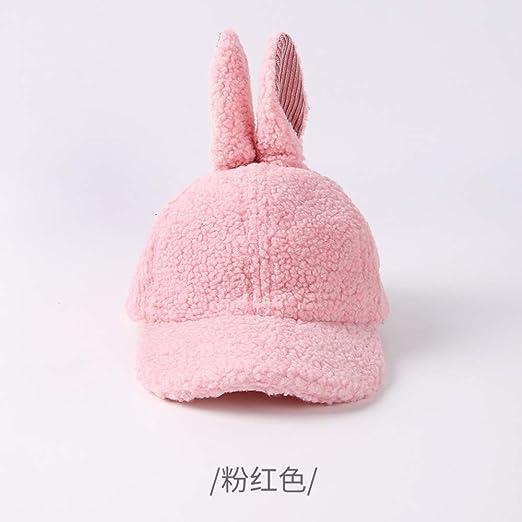 mlpnko Sombrero para niños Piel de Cordero Orejas de Conejo Gorras ...