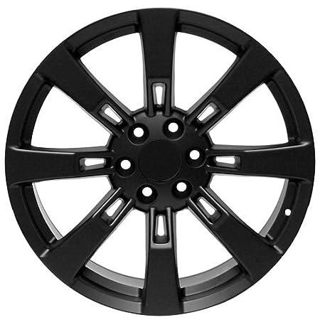 Usarim 5b 2a0y Xdef 22 Inch Black Wheels Rims For Cadillac Escalade