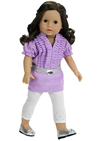 """2pc PURPLE Puppy DOLL SHOES /& Clasp PURSE SET fits 18/"""" AMERICAN GIRL DOLL"""