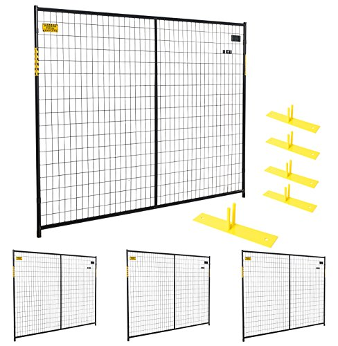 Perimeter Patrol Portable Security Fence Panel Kit (7.5'W x 6'H) by Perimeter Patrol