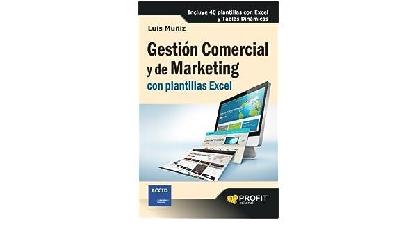 amazon com gestión comercial y de marketing con plantillas excel