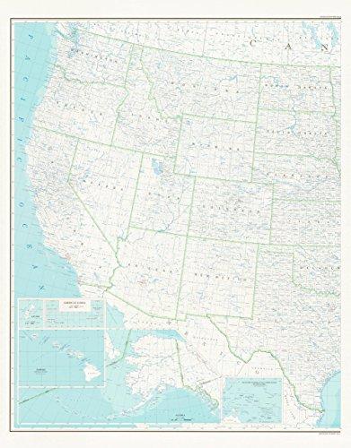 United States Map 2B Base Map (West Half, Dry Erase Laminated) (TUS5571)...