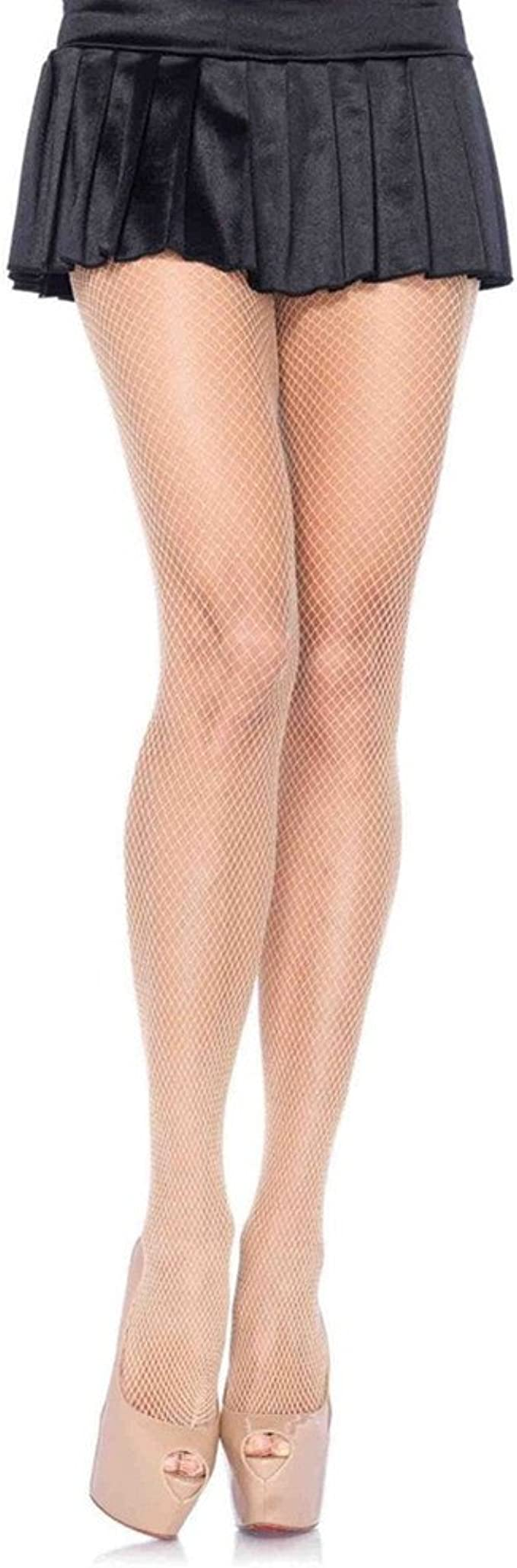 Harewom 4PCS Fishnet Stockings Sheer Mesh Thigh High Pantyhose Lace Tights for Women