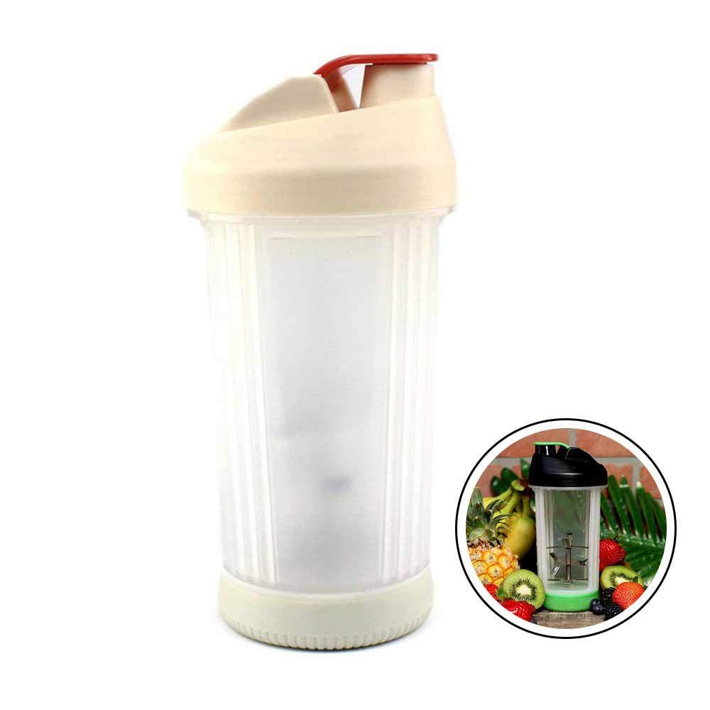 Mini-Entsafter ohne elektrisch, multifunktional, tragbar, manuelle Drehpresse – 473 ml Saftbecher Mixflasche für Proteinshakes, Smoothies, Säfte rose