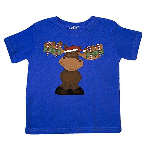 inktastic Merry Christmoose Cane Toddler T-Shirt 5/6 Royal Blue