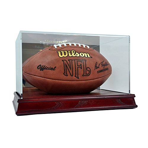 (SAFTGARD SUPPLIES Deluxe Acrylic Wood Base Football Display Case)