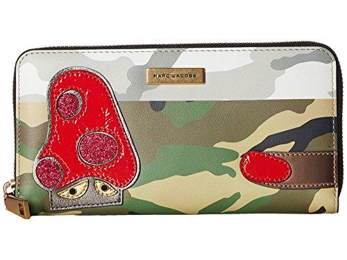 Marc Jacobs Women's Camo Julie Verhoeven Standard Continental Wallet Khaki Multi Wallets