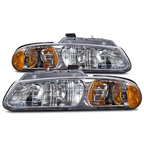 (Headlights Depot Replacement for Chrysler/Voyager/Grand Voyager/Caravan New Dual Beam Headlights Set)