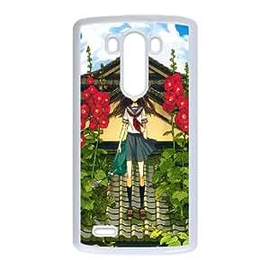 LG G3 Cell Phone Case White_flower on roof illust Eqefo