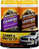 Armor All 82646 Cleaning and Leather Wipe - 20/25 Sheets, (Pack of 2)