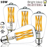 Best Globe Electric Dimmer Switches - BRIGHT IDEA 10W Edison Vintage LED Bulb, Dimmable Review