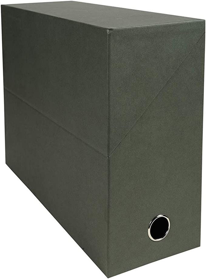Exacompta 83143E - Caja para archivar documentos. 12 cm. Verde oscuro: Amazon.es: Oficina y papelería