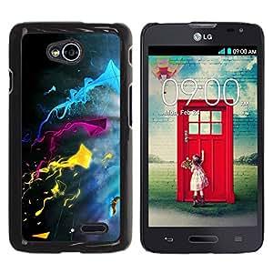 LECELL -- Funda protectora / Cubierta / Piel For LG Optimus L70 / LS620 / D325 / MS323 -- Color Splash --