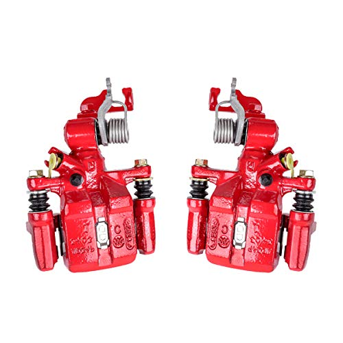 Callahan CCK05127 [2] REAR Premium Semi-Loaded Red Brake Caliper Pair + Hardware Kit [ for Honda Accord Coupe Sedan ] ()