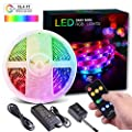 DreamColor LED Strip Lights, Wrrlight LED Lights Sync to Music, Waterproof RGB Rope Light with RF Remote Controller, 150 LEDs 5050 Flexible Strip Lighting, LED Tape Lights, 12V UL Listed