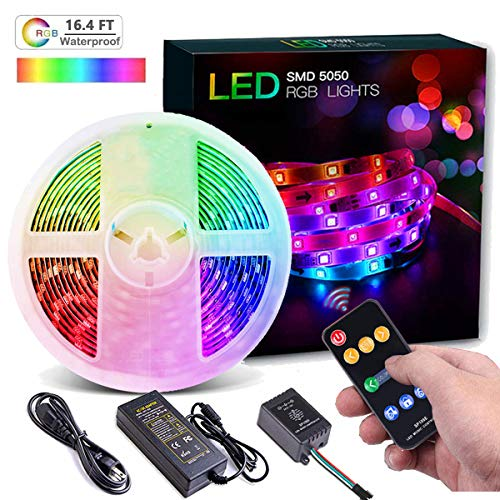 LED Strip Lights, Wrrlight Dream Color LED Lights Strip with Multicolor Chasing 5M 16.4ft 150 LEDs SMD5050 Waterproof Music Lights RGB Rope Lights Flexible LED Strips Kit for Home Kitchen Bar