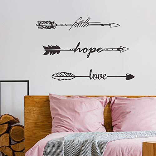 MSIKU Etiqueta de la Pared Faith Hope Love Vinyl Quotes Tatuajes ...