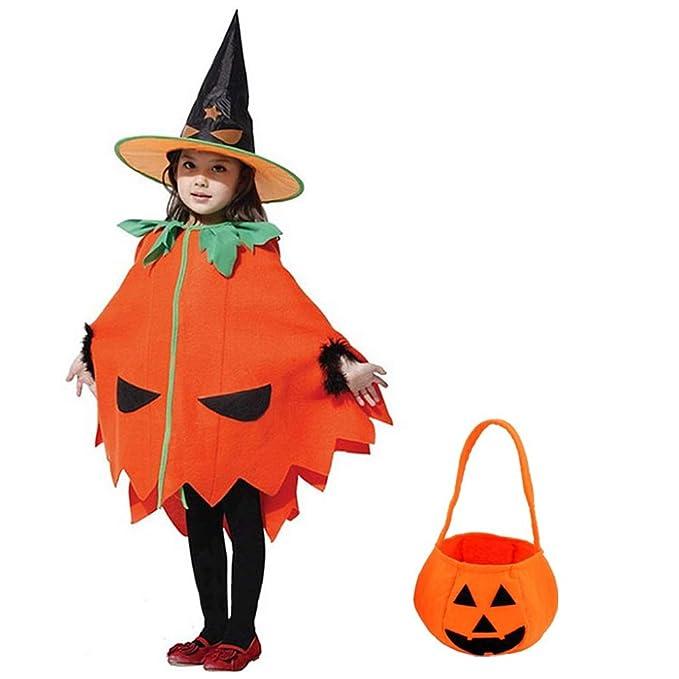 Yuii Disfraz de Halloween Gato de la Calabaza Niños fijado ...