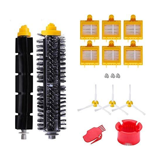 AplusTech Pack Kit Repuestos y Accesorios Filtro y Cepillo para Aspiradora iRobot Roomba Serie 700 720 750 760 765 770 772 774 775 776 780 782 785 786 790 -Pack de 16PCS