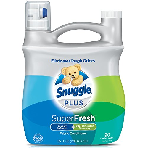 Price comparison product image Snuggle Plus Super Fresh Liquid Fabric Softener with Odor Eliminating Technology, 95 Fluid Ounces
