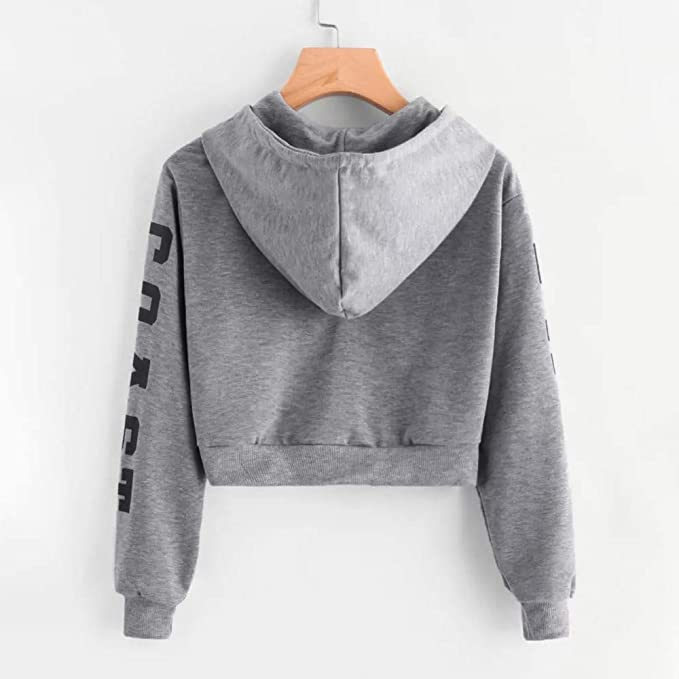 Amazon.com: Back to School Baigoods Autumn Womens Autumn Long Sleeve Hoodie Sweatshirt Letters Hooded Pullover Tops Blouse: Clothing
