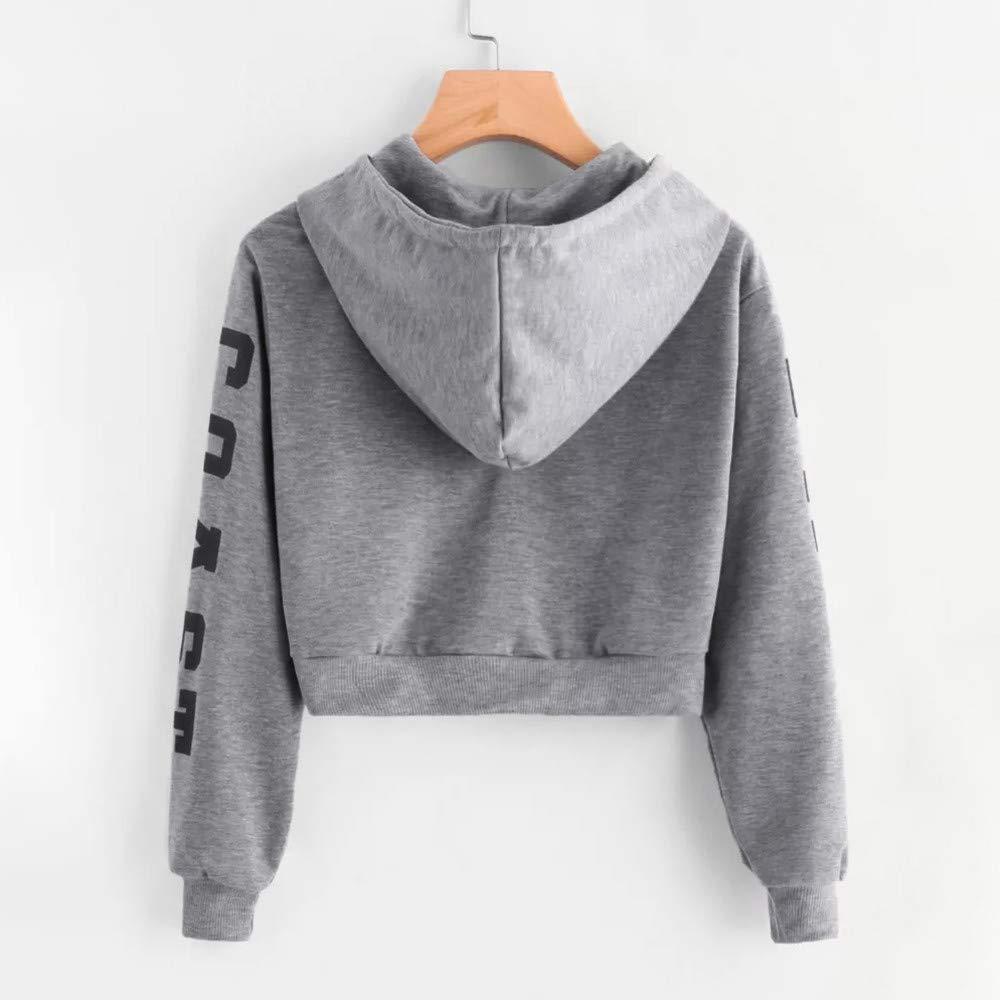 Fashion Hooded Tops,East Coast Letters Printed Hoodies Short Drawstring Sweatshirt
