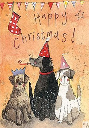 Alex Clark Seasonal Charity Cards Dogs Party Pack Of 5