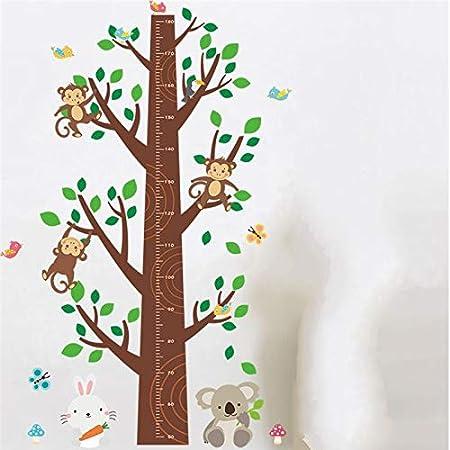 KFDIXF Animales Mono Koala Conejo árbol Altura Medida Etiqueta de ...