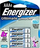 ENERGIZER L92 ULTIMATE LITHIUM 4 AAA ON CARD