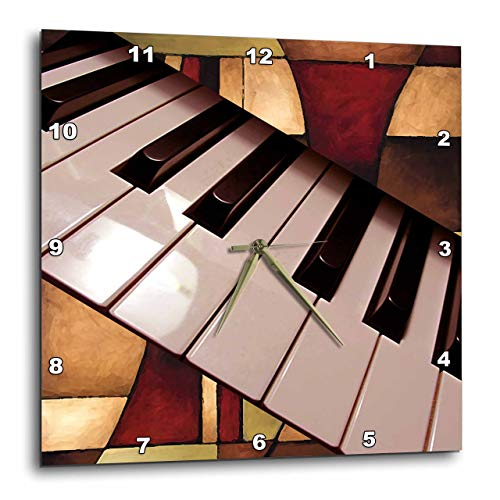 3dRose LLC Piano Abstract Wall Clock, 10 by 10-Inch