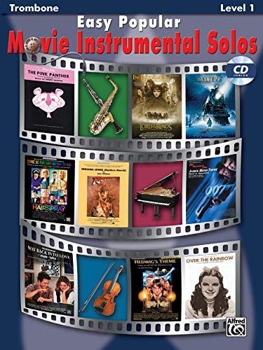Easy Popular Movie Instrumental Solos: Trombone, Book & CD (Easy Instrumental Solos Series)