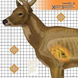 Champion Deer 25x25-Inch Xray Paper Target (Pack of 6)