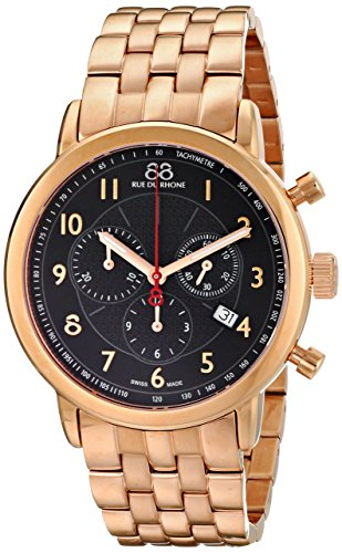 88-Rue-du-Rhone-Mens-87WA120049-Double-8-Analog-Display-Swiss-Quartz-Rose-Gold-Watch