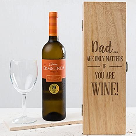 Funny Birthday Gift For Dad Wine Box