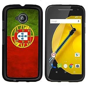 "Be-Star Único Patrón Plástico Duro Fundas Cover Cubre Hard Case Cover Para Motorola Moto E2 / E(2nd gen)( Bandera nacional de la Serie-Portugal"" )"