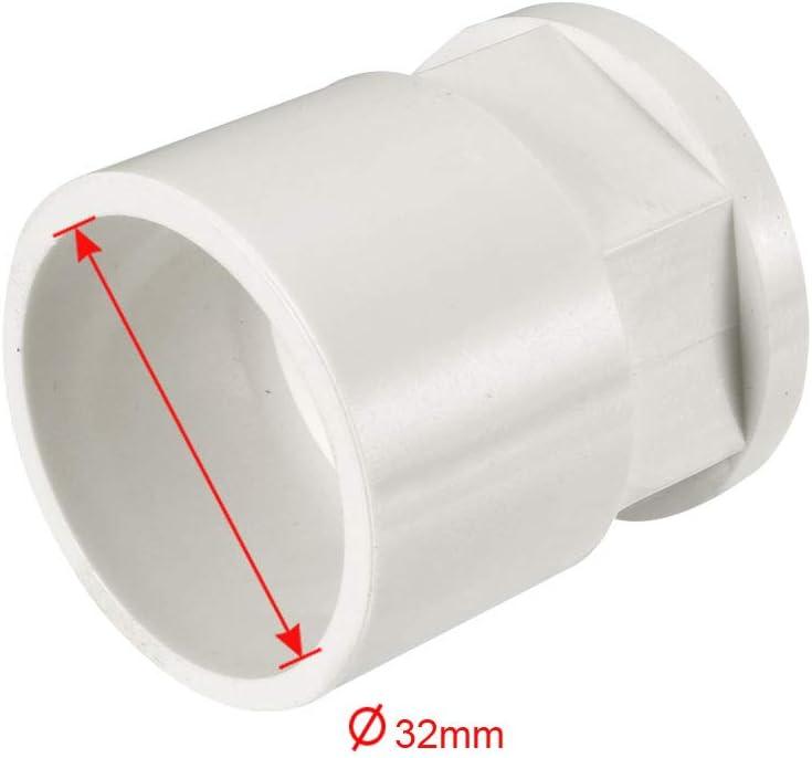 sourcing map 32mm Slip x 3//4 PT Femelle Laiton Filet PVC Tuyau Raccord Adaptat 2Pcs