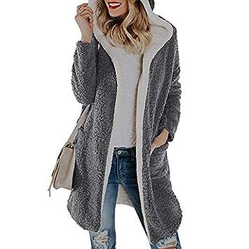 Amazon.com: Dreamyth-Winter - Chaqueta de forro polar con ...